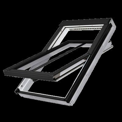 Fakro FTW-V/C P2 Double Glazed Conservation 'V' Kit White Acrylic Centre Pivot Pitched Roof Window