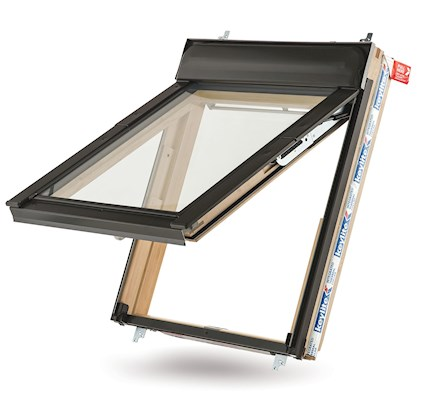 Keylite Hi-Therm Double Glazed Pine Fire Escape Pitched Roof Window