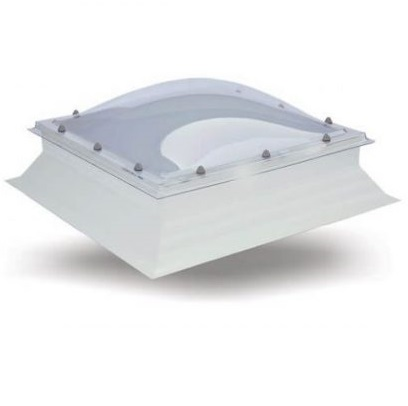 Keylite Flat Roof Dome Electric Opening Frosted