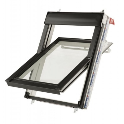 Keylite Hi-Therm Double Glazed Premium Electric Kit White Painted Centre Pivot Pitched Roof Window