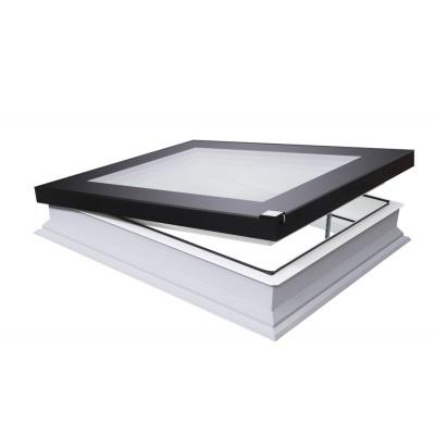 Fakro DEFD U8 Electric Opening Quadruple Glazed 'Passive' Flat-Glass Flat Roof Window.