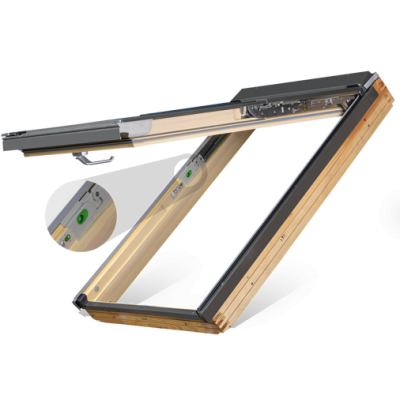 Fakro FPPV P2 Double Glazed Pine preSelect Top Hung Pitched Roof Window