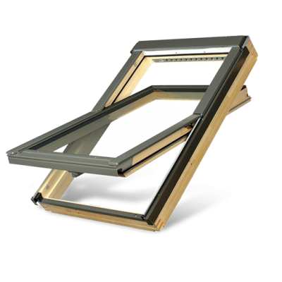 Fakro FTPV P2 Double Glazed Pine Centre Pivot Pitched Roof Window