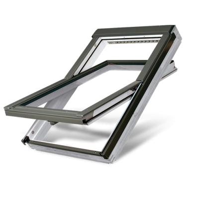 Fakro FTWV P2 Double Glazed Acrylic Coated Pine Centre Pivot Pitched Roof Window