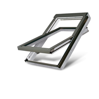 Fakro FTWV P5 Triple Glazed Acrylic Coated Pine Centre Pivot Pitched Roof Window