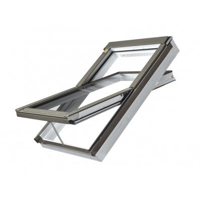 Fakro PTP-V P5 Z-Wave Electric Triple Glazed PVC Centre Pivot Pitched Roof Window