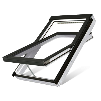 Fakro FTU-V P5 Z-Wave Electric Triple Glazed White Polyurethane Centre Pivot Pitched Roof Window